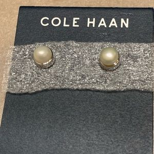 Cole Haan! Freshwater Pearl Studs!